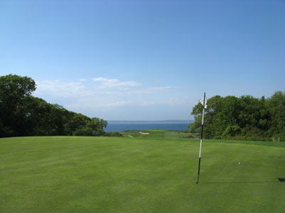 Fishers Island 6th Hole (The Punch Bowl Green)